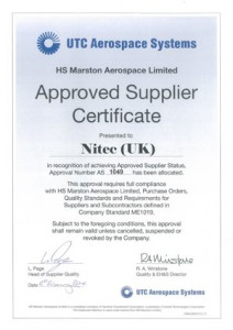 Approval certificate for HS Marsden