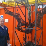 mild steel phoenix sculpture