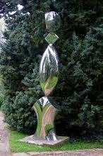 nickel plated garden sculpture