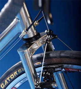 nickel plated bike frame