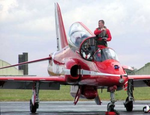 Red arrows pilot