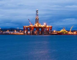 oil rig north sea uk