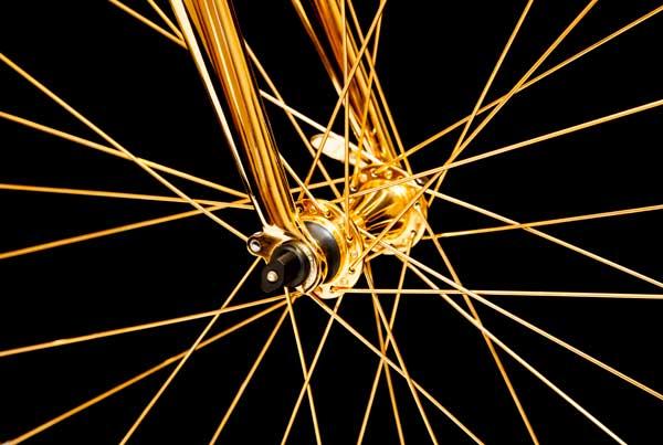 nickel undercoat gold plated bike