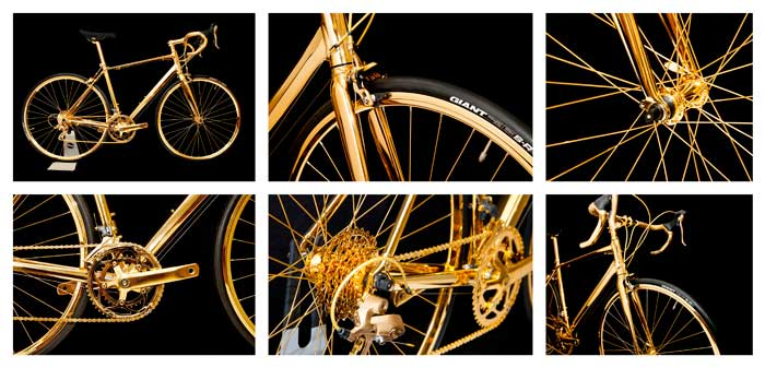 nickel undercoat gold plated bike